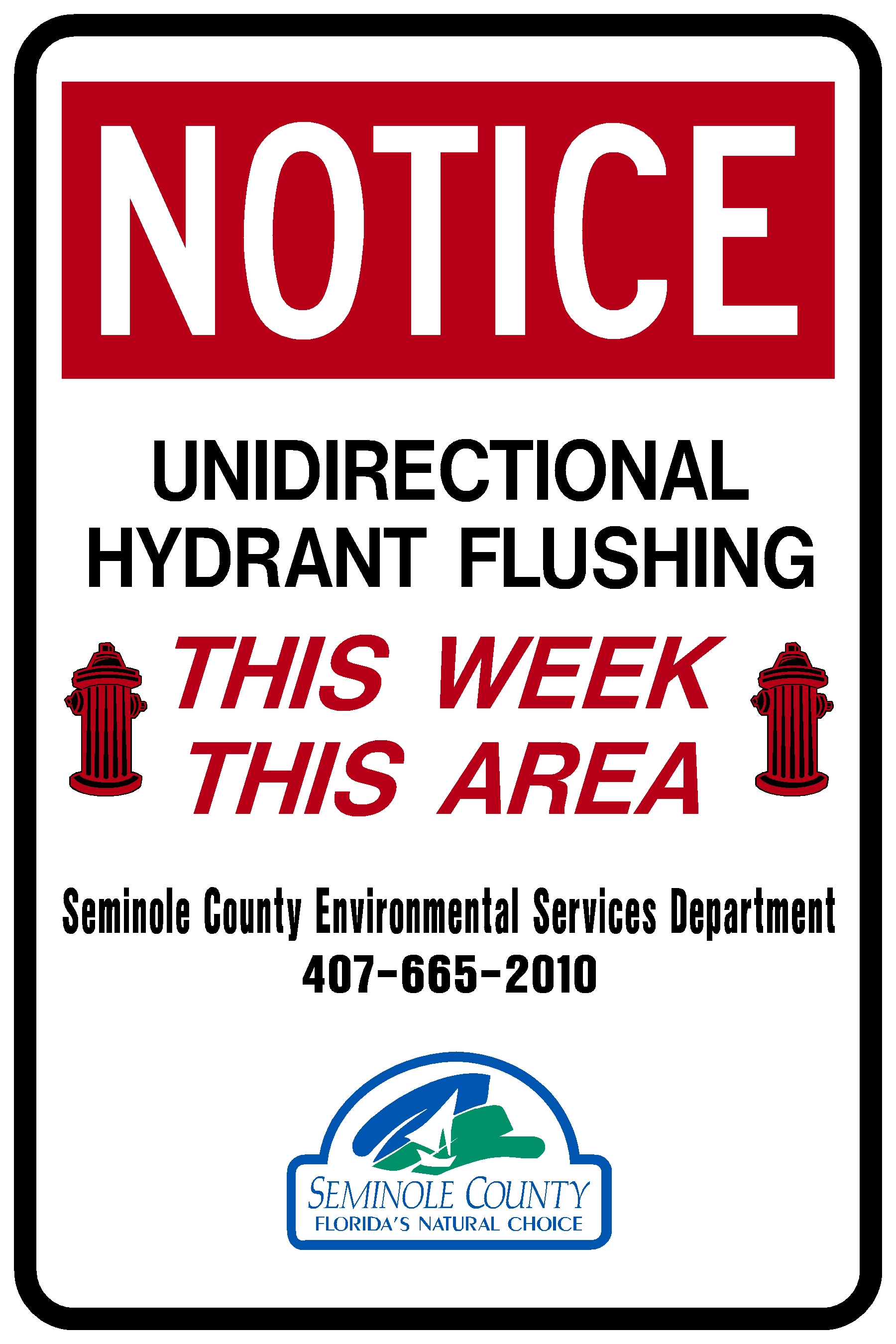 Hydrnt Flushing Sign